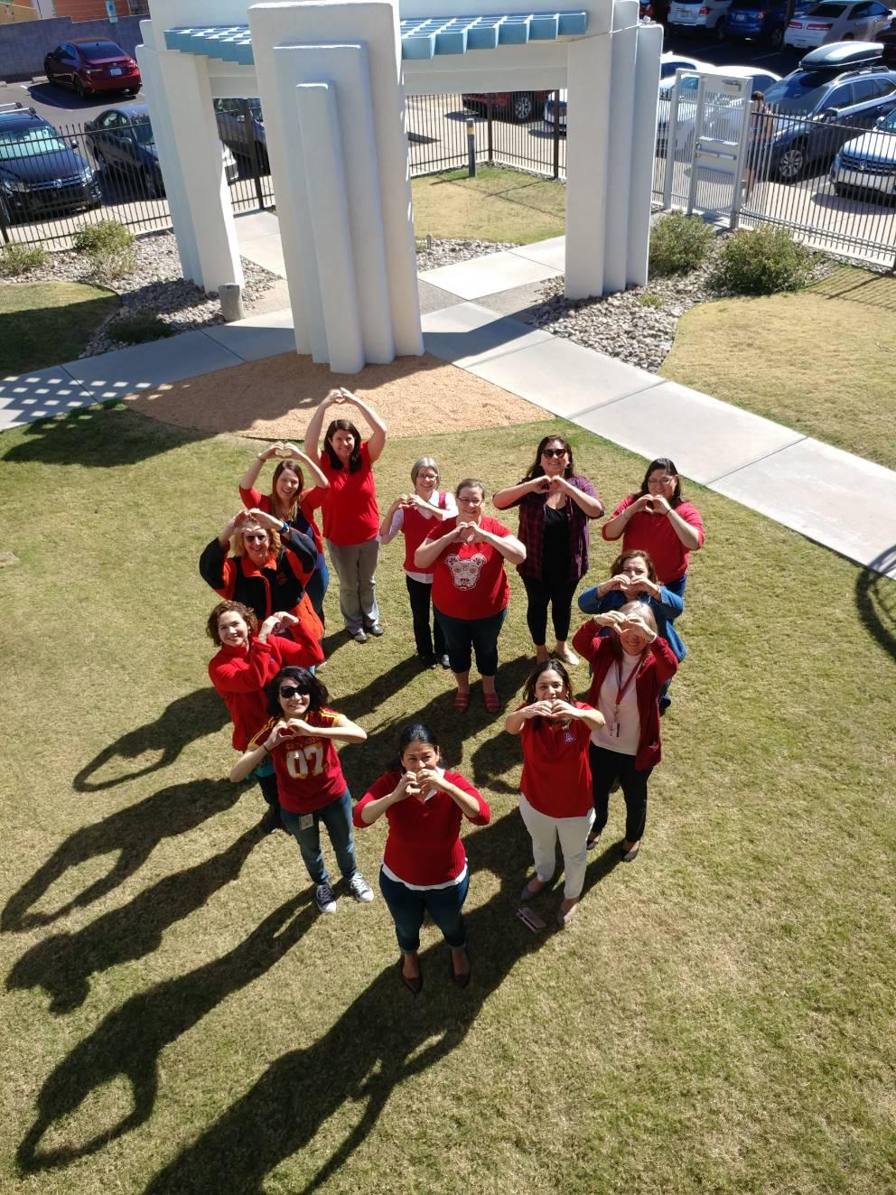 UArizona Walk Across Arizona participants hearts
